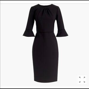 Jcrew Black Bell-Sleeved Ponte Dress NWT
